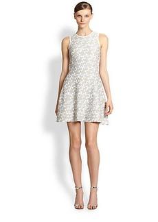 Shoshanna Metallic Knit Becky Dress