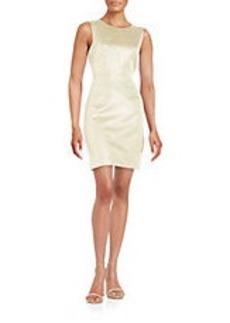 SHOSHANNA Metallic Sheath Dress