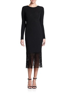 Shoshanna MIDNIGHT Narella Fringed Dress