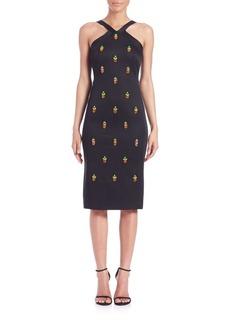 Shoshanna Mitchell Embellished Halter Dress