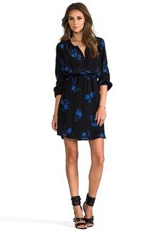 Shoshanna Oakes Garden Print Mirabel Dress in Black