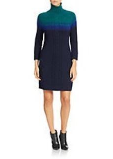 SHOSHANNA Ombre Turtleneck Sweater Dress
