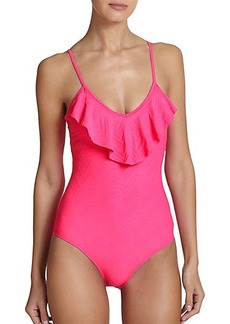 Shoshanna One-Piece Ruffle Swimsuit