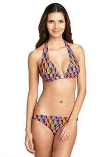 Shoshanna orange 'Casco Bay' ring bikini bottoms