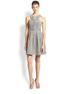 Shoshanna Organza Stripe Dress