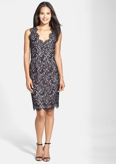 Shoshanna 'Pamela' Lace Sheath Dress