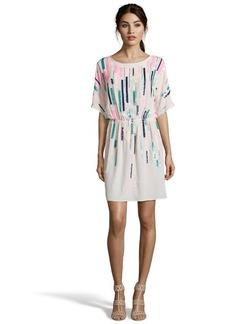 Shoshanna petal sequined silk woven 'Steffi' short sleeve shift dress