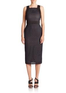 Shoshanna Phoenix Lasercut Scuba Dress
