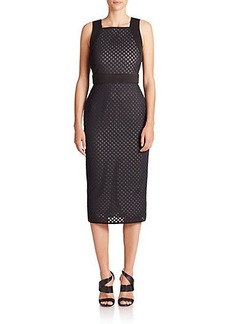 Shoshanna Phoenix Lasercut Scuba Dress