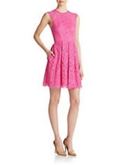 SHOSHANNA Pleated Lace Dress