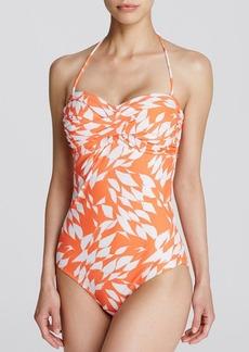 Shoshanna Pliage Twist One Piece Swimsuit