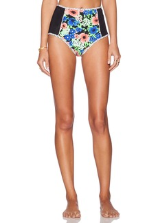 Shoshanna Retro Floral High Waist Bikini Bottom