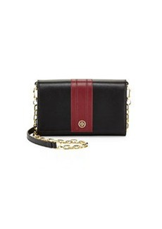 Shoshanna Robinson Stripe Wallet-on-Chain, Black