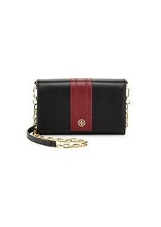 Shoshanna Robinson Stripe Wallet-on-Chain, Black