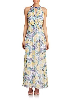 Shoshanna Rosanne Floral Silk Maxi Dress