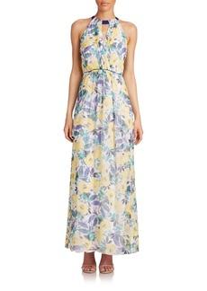 Shoshanna Rosanne Floral Silk Maxi Dress