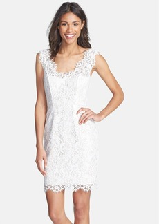 Shoshanna 'Rose' Floral Lace Sheath Dress