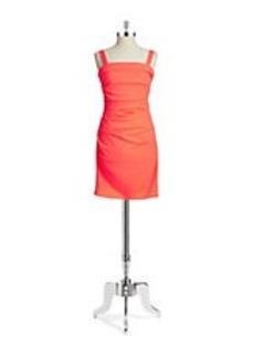 SHOSHANNA Ruched Straightneck Dress