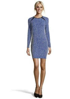 Shoshanna sapphire blue stretch jacquard knit 'Brooklyn' fitted dress