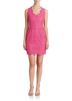 Shoshanna Scalloped Lace Sheath Dress