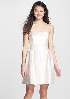 Shoshanna 'Shaina' Silk Satin Fit & Flare Dress