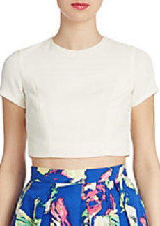 SHOSHANNA Short Sleeve Cropped Top
