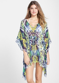 Shoshanna Silk Chiffon Cover-Up Caftan