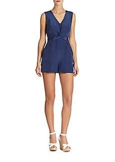 Shoshanna Silk Evelyne Short Jumpsuit