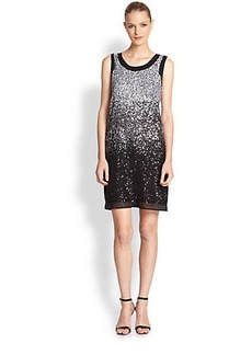 Shoshanna Silk Georgette Sequined Dress