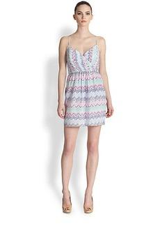Shoshanna Silk Zigzag-Print Mia Dress