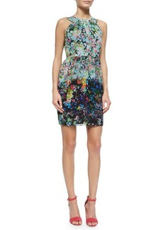 Shoshanna Sleeveless Floral-Print Sheath Dress  Sleeveless Floral-Print Sheath Dress