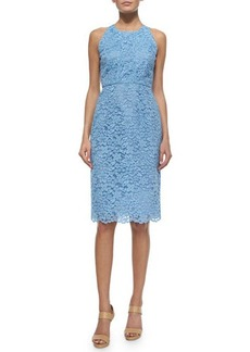 Shoshanna Sleeveless Lace Midi Dress