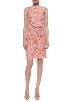 Shoshanna Sleeveless Lace Popover Dress  Sleeveless Lace Popover Dress
