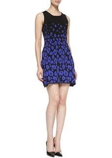 Shoshanna Sleeveless Leopard-Print Fit & Flare Dress