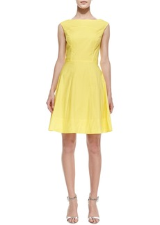 Shoshanna Sleeveless Seamed Stretch Dress