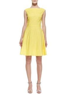 Shoshanna Sleeveless Seamed Stretch Dress