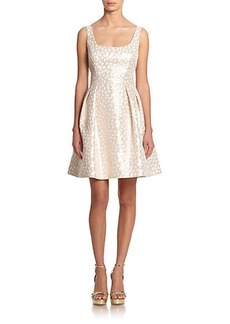 Shoshanna Svetlana Jacquard Fit-&-Flare Dress