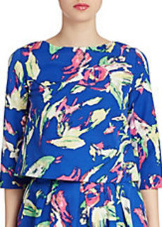 SHOSHANNA Three Quarter Sleeve Floral Print Top