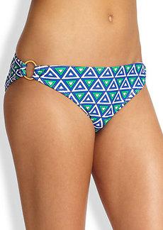 Shoshanna Triangle-Print Bikini Bottom