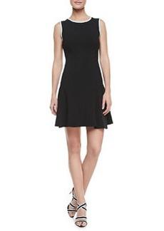 Shoshanna Tropical Crepe Combo Naama Dress