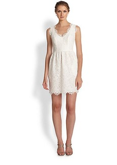 Shoshanna V-Neck Lace Dress