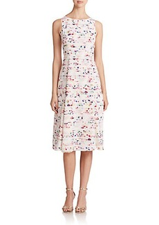 Shoshanna Viviana Floral Stripe Dress