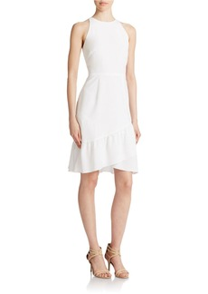 SHOSHANNA White Asymmetrical Ruffle Dress