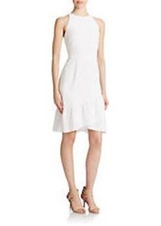 SHOSHANNA White Asymmetrical Ruffle Dress