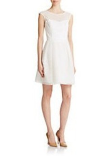 SHOSHANNA White Embroidered Flare Dress