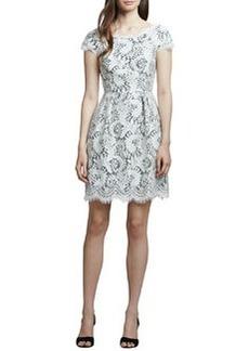 Shoshanna White Lace Cap-Sleeve Dress