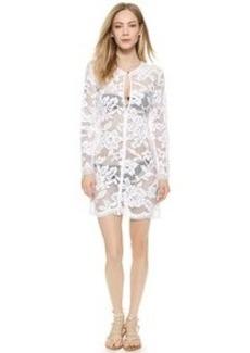 Shoshanna White Lace Keyhole Tunic