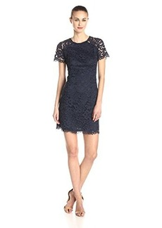 Shoshanna Women's Beverly Lace Cap Sleeve Dress, Navy, 12