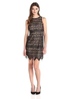 Shoshanna Women's Corded Lace Bella Dress, Jet, 8