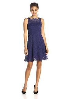 Shoshanna Women's Corded Lace Gala Dress, Ink, 0